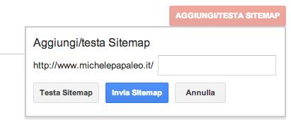 Aggiungi Sitemap