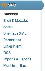 Wordpress SEO menu