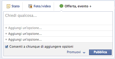 Facebook editor Sondaggio